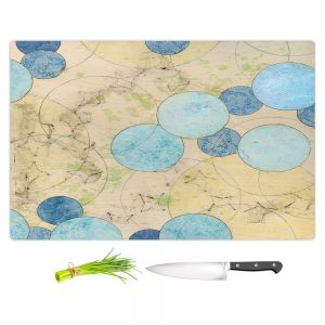 Artistic Kitchen Bar Cutting Boards | Paper Mosaic Studio - Blue Journey | Bubble abstract pattern