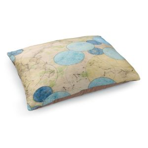 Decorative Dog Pet Beds | Paper Mosaic Studio - Blue Journey | Bubble abstract pattern