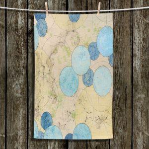 Unique Hanging Tea Towels | Paper Mosaic Studio - Blue Journey | Bubble abstract pattern