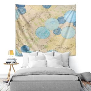 Artistic Wall Tapestry | Paper Mosaic Studio - Blue Journey | Bubble abstract pattern