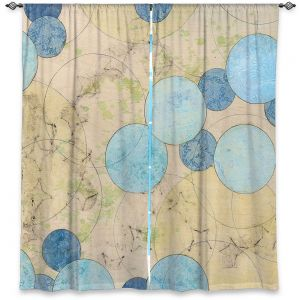Decorative Window Treatments | Paper Mosaic Studio - Blue Journey | Bubble abstract pattern