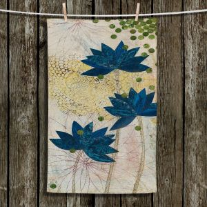 Unique Bathroom Towels   Paper Mosaic Studio - Blue Lotus
