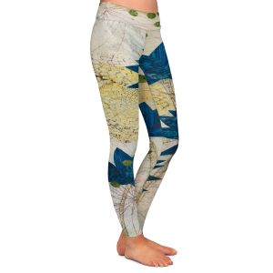 Unique Leggings Small from DiaNoche Designs by Paper Mosaic Studio - Blue Lotus
