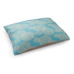 Decorative Dog Pet Beds | Paper Mosaic Studio - Blue Stencil | Bubble abstract pattern