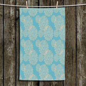 Unique Bathroom Towels | Paper Mosaic Studio - Blue Stencil | Bubble abstract pattern