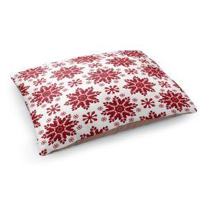 Decorative Dog Pet Beds   Paper Mosaic Studio - Christmas Folk Art   Pattern snowflake holiday xmas