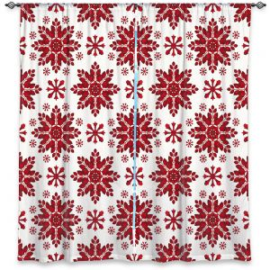 Decorative Window Treatments | Paper Mosaic Studio - Christmas Folk Art | Pattern snowflake holiday xmas