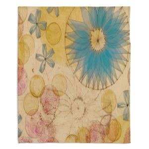 Decorative Fleece Throw Blankets | Paper Mosaic Studio - Circle Inspiration