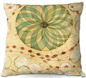 Decorative Outdoor Patio Pillow Cushion | Paper Mosaic Studio - Circle Love
