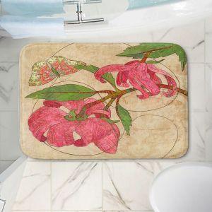Decorative Bathroom Mats | Paper Mosaic Studio - Encircle | flower floral nature