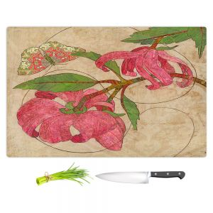 Artistic Kitchen Bar Cutting Boards | Paper Mosaic Studio - Encircle | flower floral nature