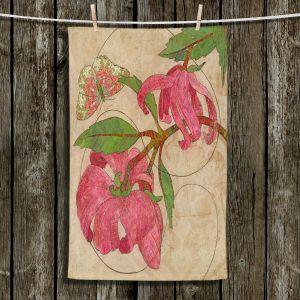 Unique Hanging Tea Towels | Paper Mosaic Studio - Encircle | flower floral nature