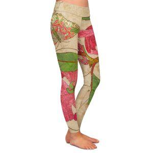 Casual Comfortable Leggings | Paper Mosaic Studio - Encircle | flower floral nature
