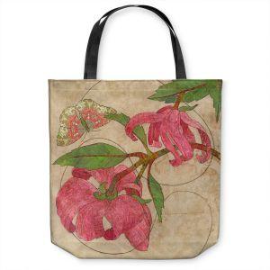 Unique Shoulder Bag Tote Bags   Paper Mosaic Studio - Encircle   flower floral nature