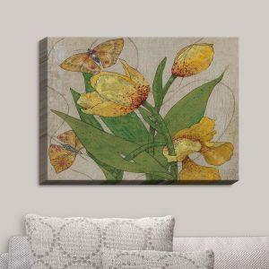 Decorative Canvas Wall Art   Paper Mosaic Studio - Entwine   Flowers Butterflies Bugs