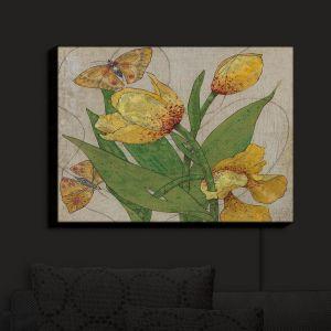 Nightlight Sconce Canvas Light | Paper Mosaic Studio - Entwine | Flowers Butterflies Bugs