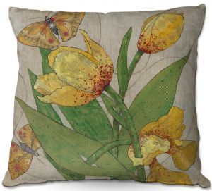 Decorative Outdoor Patio Pillow Cushion | Paper Mosaic Studio - Entwine