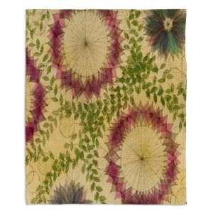 Decorative Fleece Throw Blankets | Paper Mosaic Studio - Flower Whispy