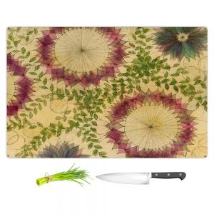 Artistic Kitchen Bar Cutting Boards | Paper Mosaic Studio - Flower Whispy