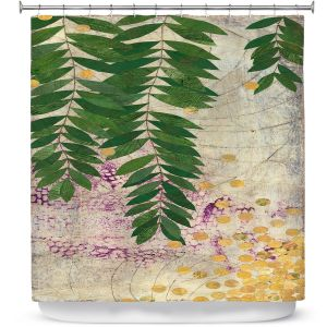 Unique Shower Curtain from DiaNoche Designs by Paper Mosaic Studio - Green Willow