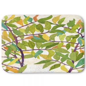 Decorative Bathroom Mats | Paper Mosaic Studio - Happy Tree 2 Center | Nature branches leaves