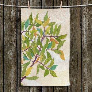 Unique Hanging Tea Towels | Paper Mosaic Studio - Happy Tree 2 Right | Nature branches leaves