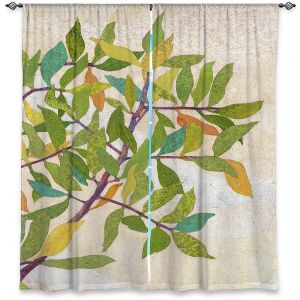 Decorative Window Treatments | Paper Mosaic Studio - Happy Tree 2 Right | Nature branches leaves