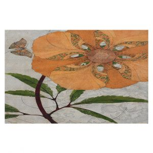 Decorative Floor Coverings | Paper Mosaic Studio - Orange Flower