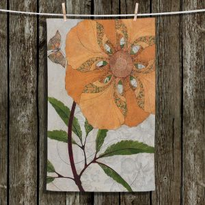 Unique Bathroom Towels | Paper Mosaic Studio - Orange Flower