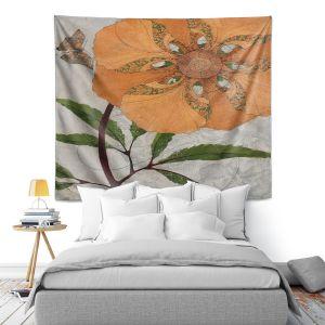 Artistic Wall Tapestry | Paper Mosaic Studio - Orange Flower
