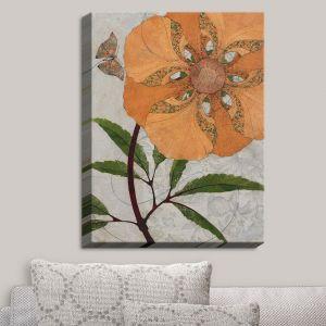 Decorative Canvas Wall Art   Paper Mosaic Studio - Orange Flower   Flowers