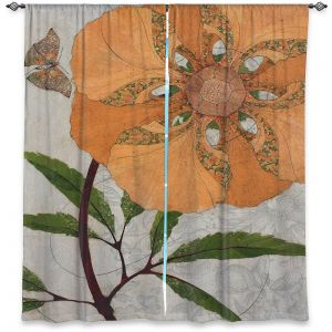Decorative Window Treatments | Paper Mosaic Studio - Orange Flower
