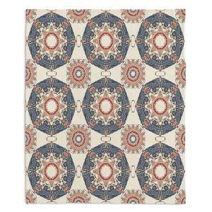 Decorative Fleece Throw Blankets | Paper Mosaic Studio - Pattern A