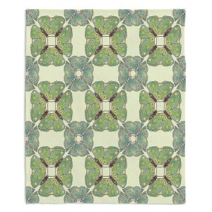 Decorative Fleece Throw Blankets | Paper Mosaic Studio - Pattern E