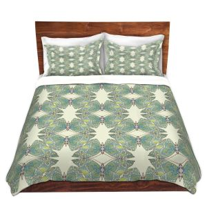 Artistic Duvet Covers and Shams Bedding | Paper Mosaic Studio - Pattern F