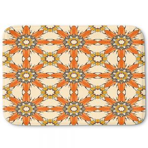 Decorative Bathroom Mats | Paper Mosaic Studio - Pattern Orange