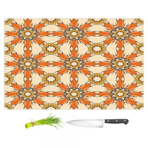Artistic Kitchen Bar Cutting Boards | Paper Mosaic Studio - Pattern Orange