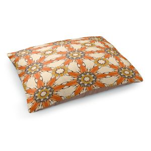 Decorative Dog Pet Beds | Paper Mosaic Studio - Pattern Orange