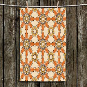 Unique Hanging Tea Towels | Paper Mosaic Studio - Pattern Orange | Patterns Shapes