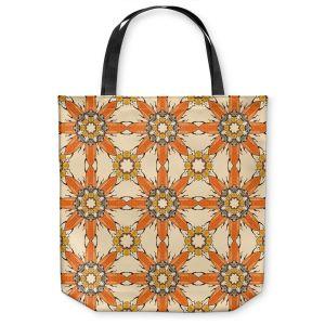 Unique Shoulder Bag Tote Bags | Paper Mosaic Studio - Pattern Orange