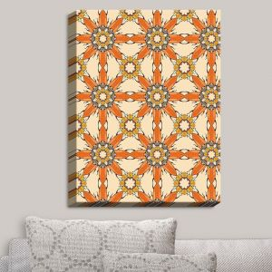 Decorative Canvas Wall Art | Paper Mosaic Studio - Pattern Orange | Patterns Shapes