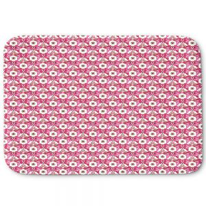 Decorative Bathroom Mats | Paper Mosaic Studio - Pattern Red White