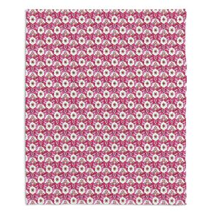 Decorative Fleece Throw Blankets | Paper Mosaic Studio - Pattern Red White