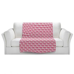 Artistic Sherpa Pile Blankets | Paper Mosaic Studio - Pattern Red White