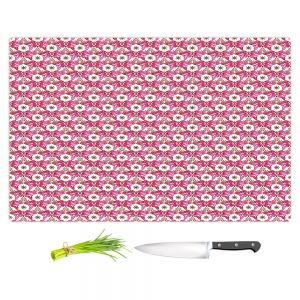 Artistic Kitchen Bar Cutting Boards | Paper Mosaic Studio - Pattern Red White