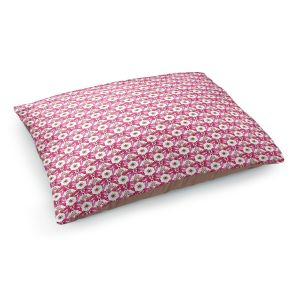 Decorative Dog Pet Beds | Paper Mosaic Studio - Pattern Red White