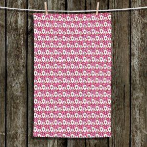 Unique Hanging Tea Towels | Paper Mosaic Studio - Pattern Red White | Patterns Shapes