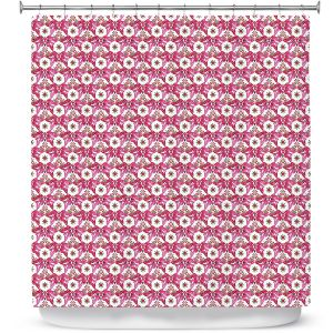 Premium Shower Curtains | Paper Mosaic Studio - Pattern Red White