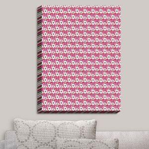 Decorative Canvas Wall Art | Paper Mosaic Studio - Pattern Red White | Patterns Shapes