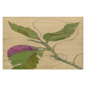 Decorative Area Rug 2 x 3 ft from DiaNoche Designs by Paper Mosaic Studio - Purple Flower